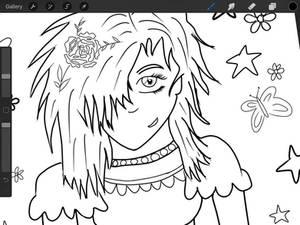 Work in progress/line art