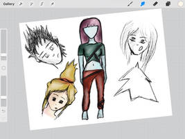 Original characters work in progress