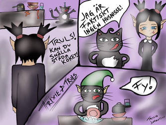 Trixie and Truls comic: Husnisse (Swedish)