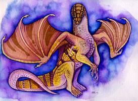 sandfish dragon by mythrilflare