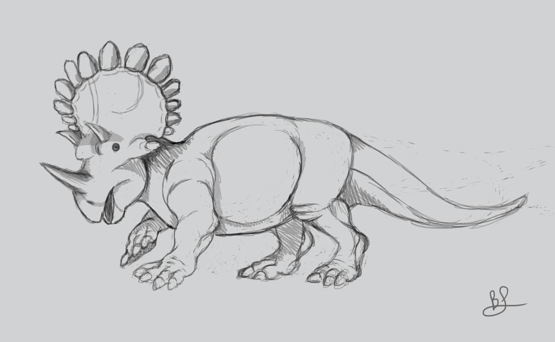 Regaliceratops sketch by mythrilflare