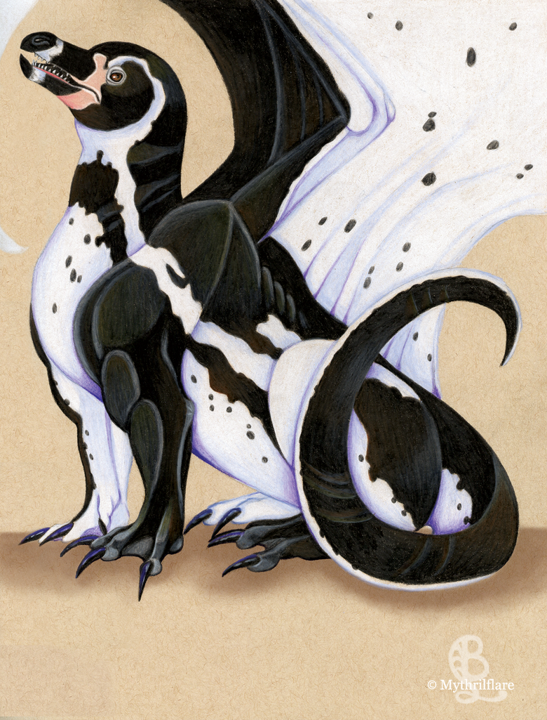 Penguin Dragon by mythrilflare