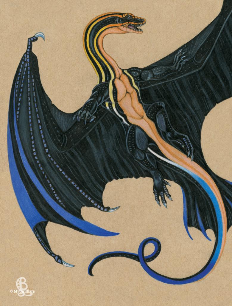 Skink Dragon by mythrilflare