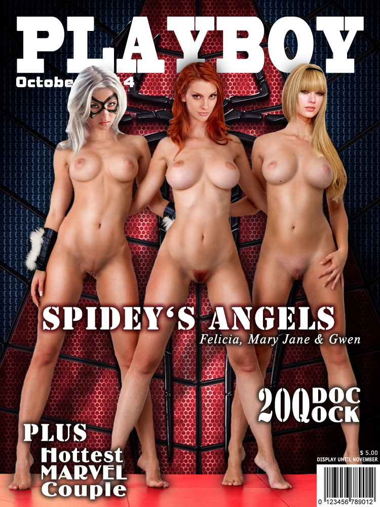 Playboy Cover - Spidey's Angels by LograySon