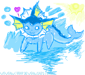 iScribble Vaporeon by vivianchhay