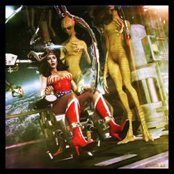 wonder woman captured by STUDIO-A-D