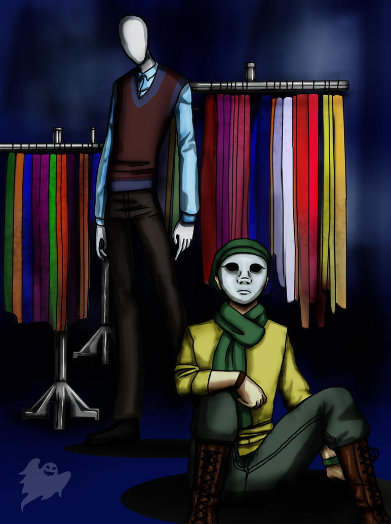 Trenderman and his proxy, Scarfy by ControlledChaotic