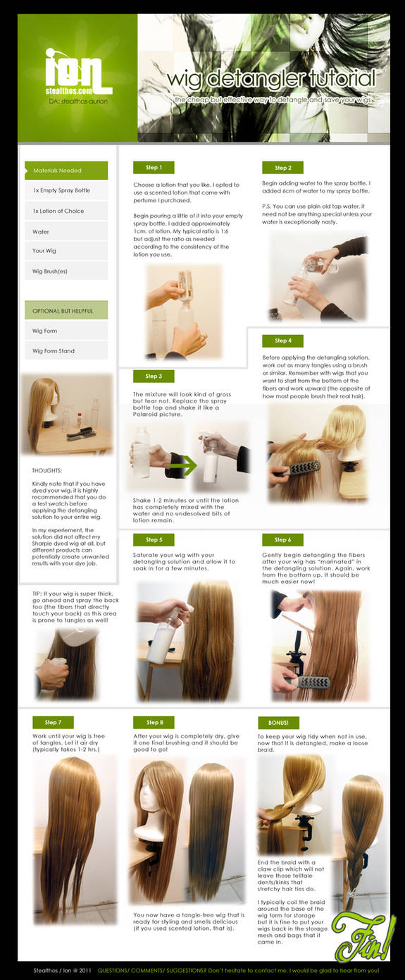 Tut: HOMEMADE WIG DETANGLER by Stealthos-Aurion ...
