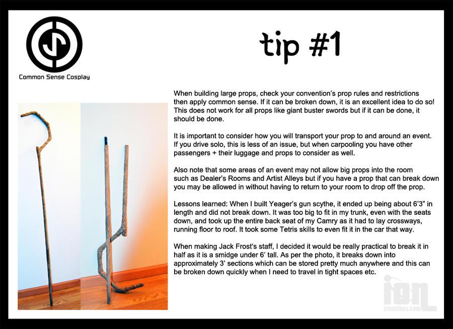 Common Sense Cosplay Tip 1: Handling Big Props