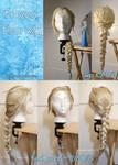 Frozen: Elsa Wig wip