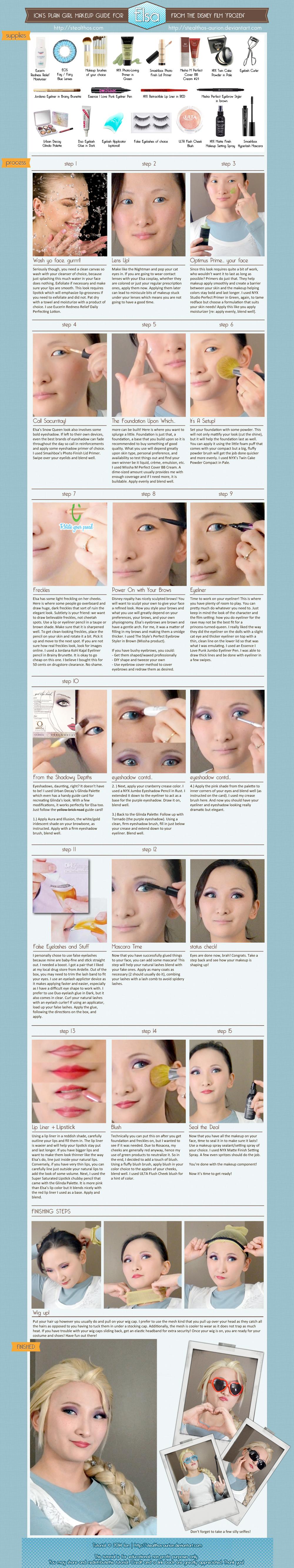 Frozen: Elsa Makeup Tutorial - plain girl's guide by Stealthos-Aurion