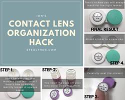 Tutorial: Super Easy Contact Lens Organization