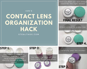 Tutorial: Super Easy Contact Lens Organization