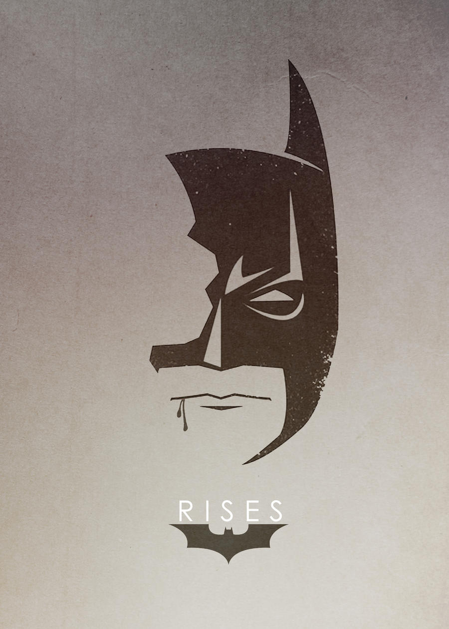 Dark knight rises minimalist tshirt design by for Minimalist art design