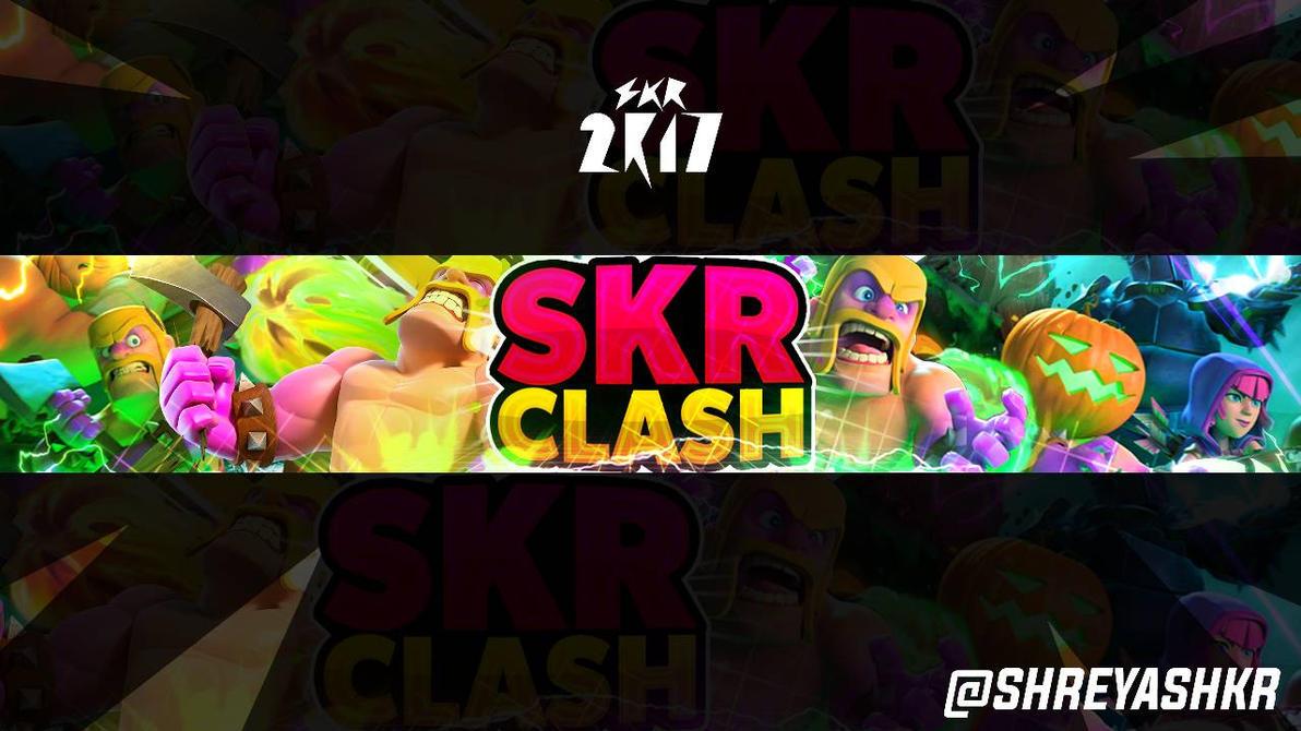 skr clash new halloween themed youtube banner 2k17 by shreyashkr - Halloween Themed Pictures