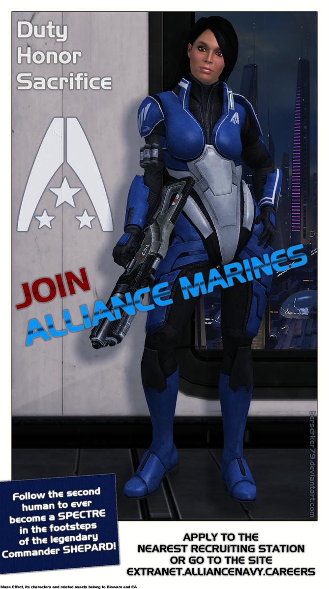 Mass Effect - Alliance Recruitment Poster by Berserker79