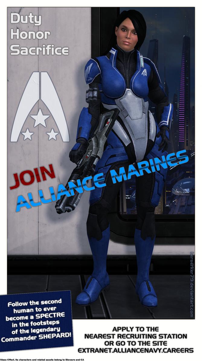 Mass Effect - Alliance Recruitment Poster by Berserker79