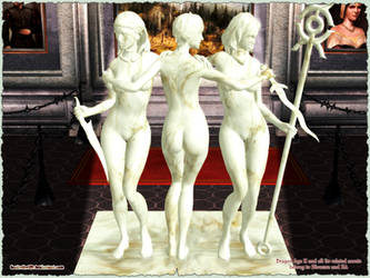 Dragon Age II: The 3 Graces of Kirkwall Sculpture