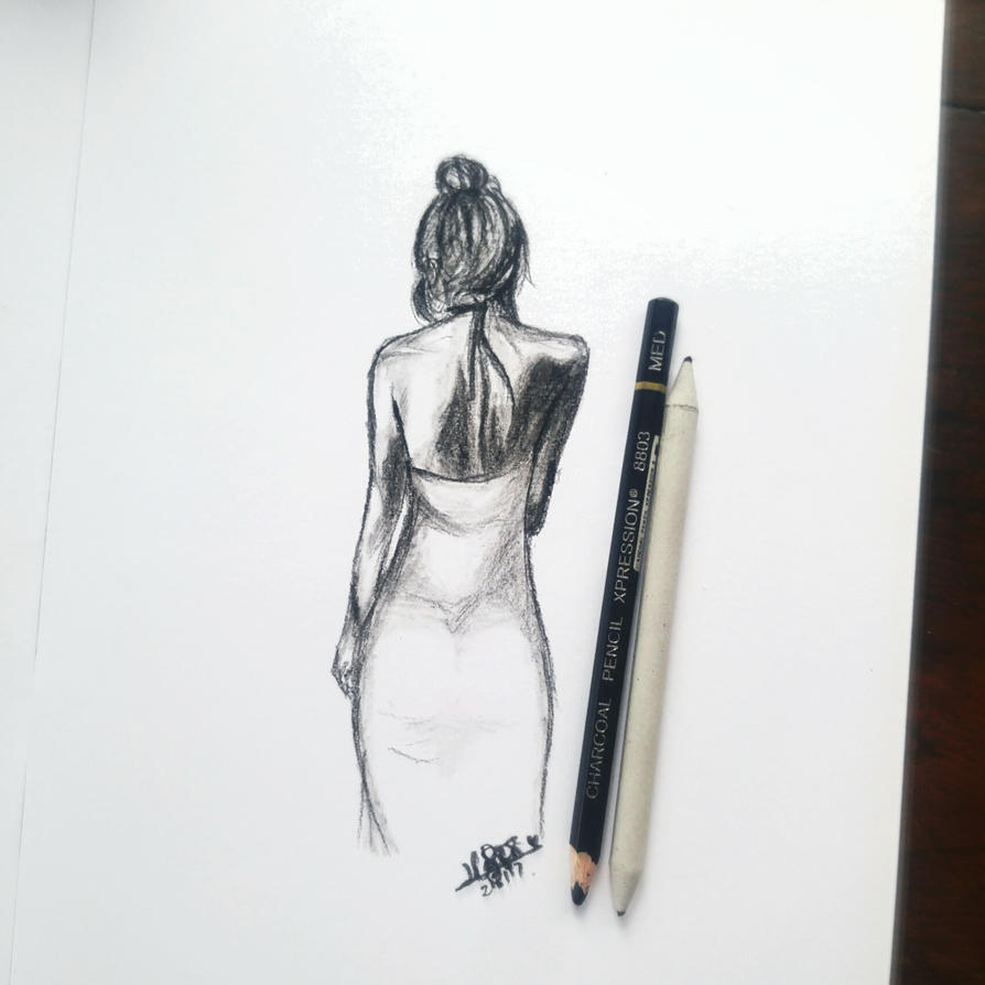 Lady in Charcoal by likeyme