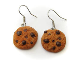 Chocolate Chip Earrings by PumpkinDream