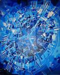 Blue Shattered Clock