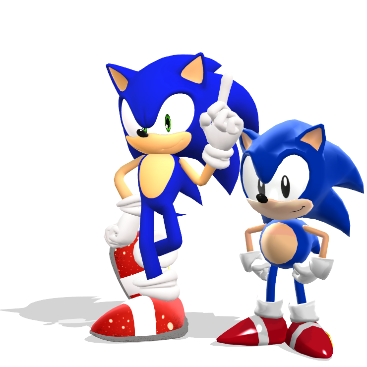 Mmd Modern Sonic And Classic Sonic By Huynhjake2001 On Deviantart