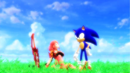 Pyra and Sonic