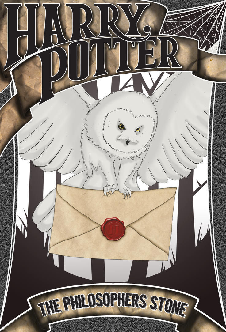 Harry Potter Book Cover Drawing : Harry potter the philosopher s stone book cover by ryan