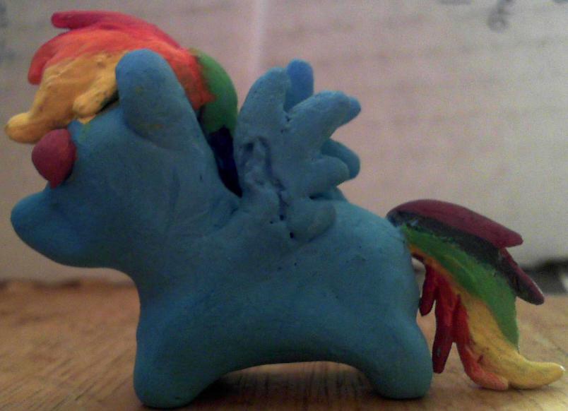 Rainbow Dash Mini Sculpt by 1Bluefur