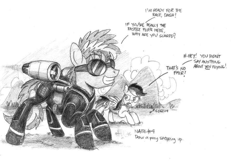 [Sketch] A Pony Stepping Up by buckweiser