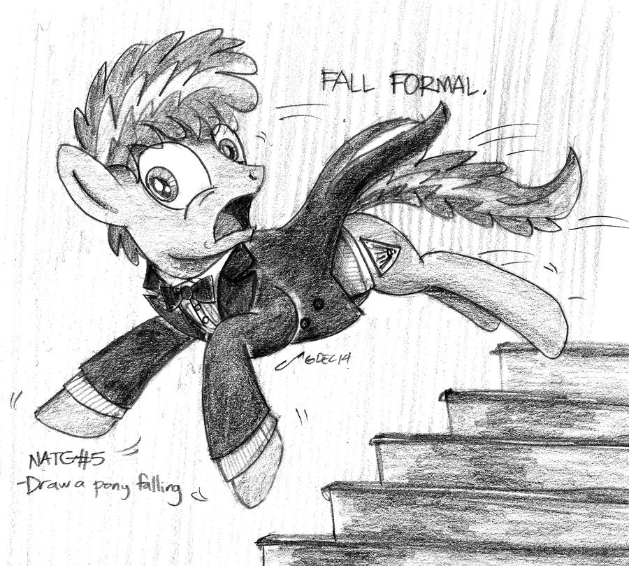 [Sketch] A Pony Falling by buckweiser