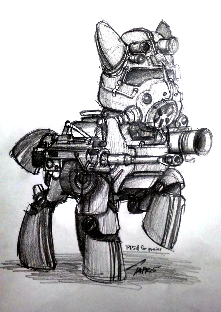 [Sketch] Steelhooves by buckweiser