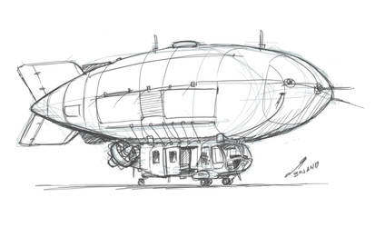 [Sketch] Equestrian Tactical Dirigible by buckweiser