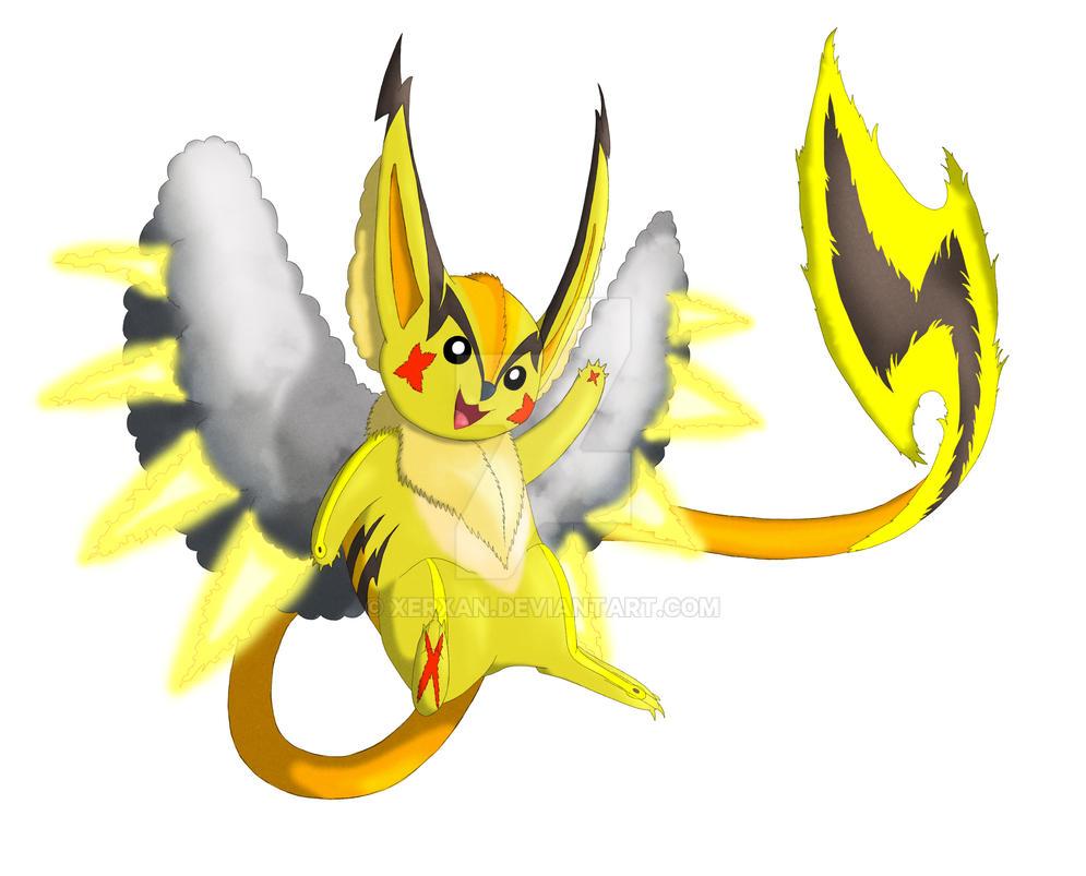 fakemon yoseichu the pikachu evolution by xerxan on