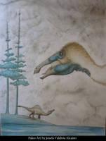 Deinocheirus by JosefaValdiviaT-Rex