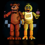 Five night at freddy. Freddy Fazbear and Chica