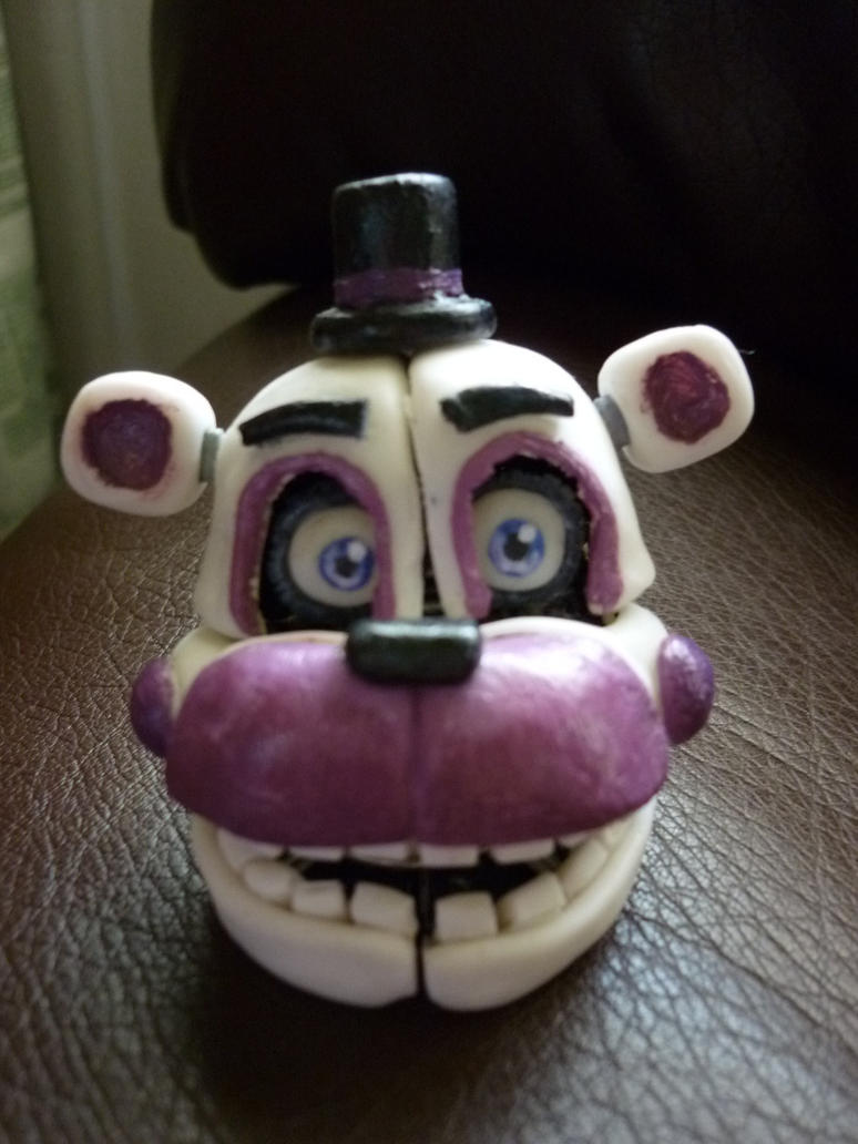 Funtime Freddy head by JosefaValdiviaT-Rex