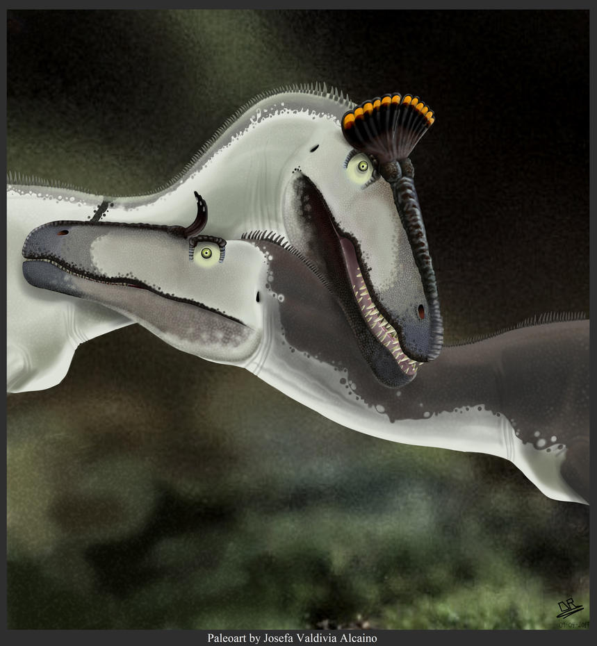 Sentimentals Cryolophosaurus by JosefaValdiviaT-Rex