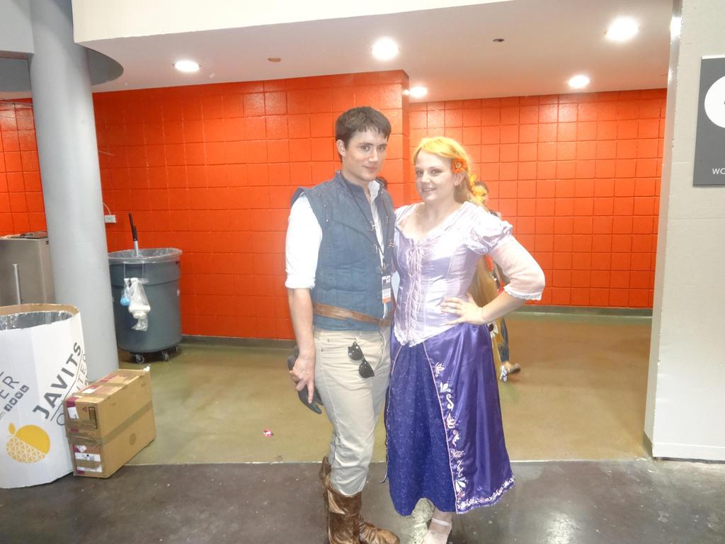 Rapunzel and Flynn Rider by Artemis1987
