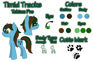 Timid Tracks Reference Sheet by Pawpr1nt