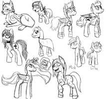 Pony sketches Week 2 by Pawpr1nt