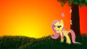 Fluttershy Wallpaper by Pawpr1nt