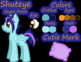 Shuteye Reference Sheet by Pawpr1nt