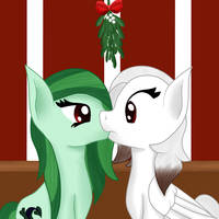 Pawprints and Cryptic under the mistletoe by Pawpr1nt