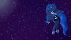 Luna and Tibbles Wallpaper by Pawpr1nt