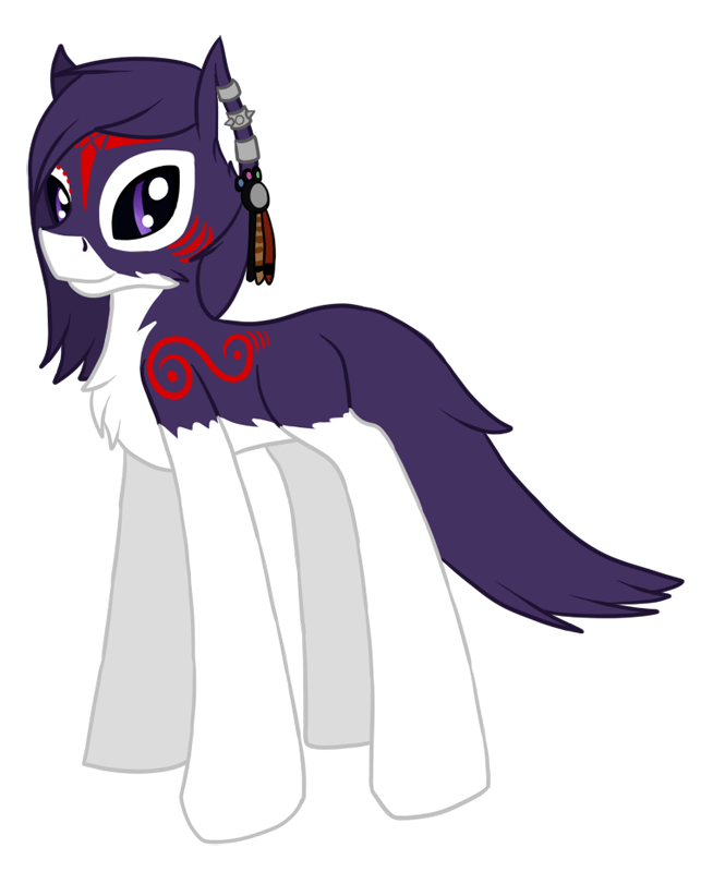 Pony!Purpsle for Soulful Purple Wolf by Pawpr1nt