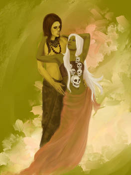 Lord Siva and Goddess Kali