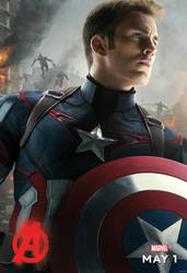 Captain America - Age Of Ultron Promo Poster by AviseLaLina