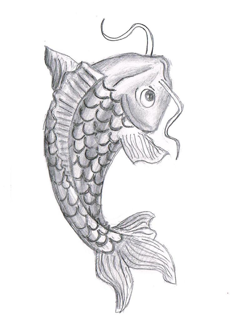 koi fish drawing by potatothegreat on deviantart