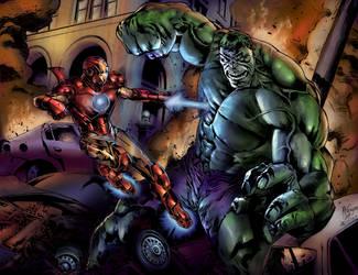 Ironman Vs  Hulk by Stirlz